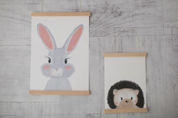 Poster Hase A4 Posterleiste Wunderwinzling 1