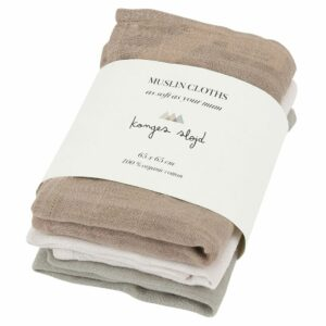 7000.20 3 Pack Muslin Cloths Rose Dust Rose Dust Extra 0