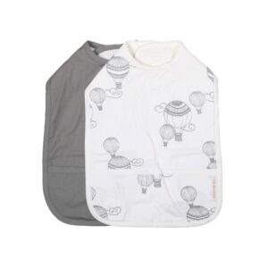Bibs With Velcro 2 Pack Airballoon White 4